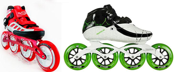 patin-de-velocidad-rojo-y-verde